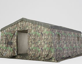 3D model realtime Army tent 3 color options
