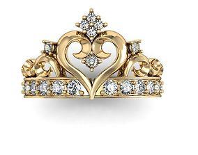 3D printable model beautyful ring crown