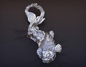 3d printable Koi Carp Pendant