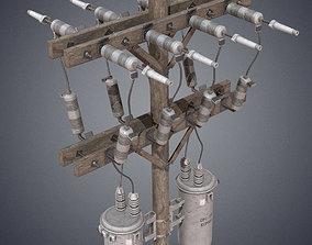 Electric pole 3D asset