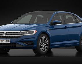 Volkswagen Jetta Sel 2019 Detailed Interior 3D model