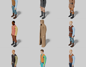 3D asset Sci-Fi Character Collection- rigged and animated