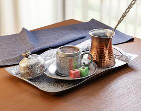 3D model PBR Turkish Coffee