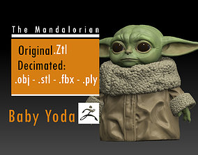Baby Yoda - The Mandalorian -Star Wars 3D printable model