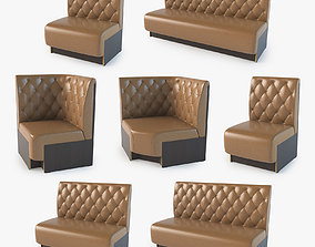 Modular Sofa Set 3D model