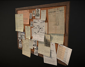Police Pinboard 3D model game-ready