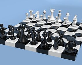 LOW POLY CHESS 3D printable model poly