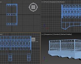 Middle eastern Balcony 3D model