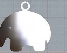 3D print model Pendant elephant simple