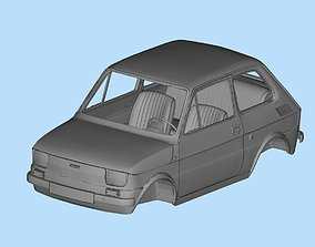Fiat 126 with interior 3D model files