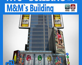 NYC Building M Ms 3D animated
