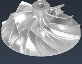 Turbocharger Compressor Impeller for Diesel 3D print model