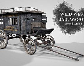 3D model Wild West Jail Wagon V2
