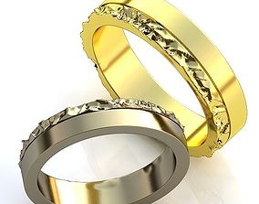 accessory jewelry 3D print model Gold Metal Rings