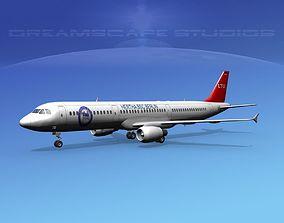 3D model Airbus A321 LTU