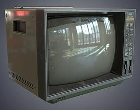 Television retro 3D asset