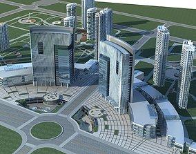 Office Building 3D building city-block
