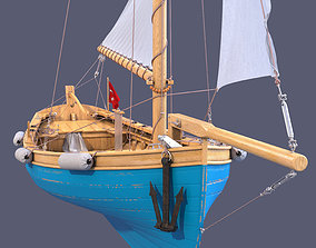 sailboat 3D model shrimp