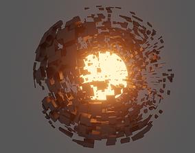 3D model Abstract Destroyed Sphere vj-loop