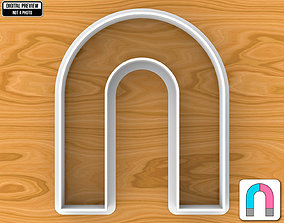 High Arch or U Shaped Magnet Cookie 3D printable model 1