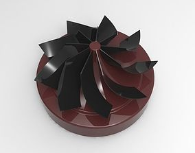 3D model Impeller with 9 blades