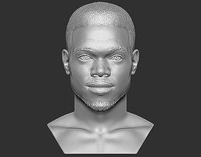 Chance The Rapper bust 3D printing ready stl obj