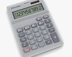 Calculator numeric 3D asset game-ready