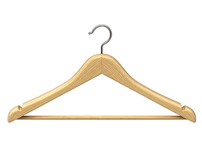 3D Wooden Clothes Hanger