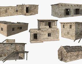 Afghanistan Buildings Pack 3D model realtime