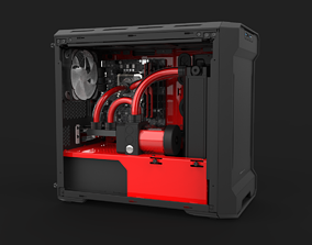3D Water Cooled Gaming PC