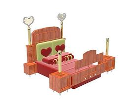Romantic bed 3D model