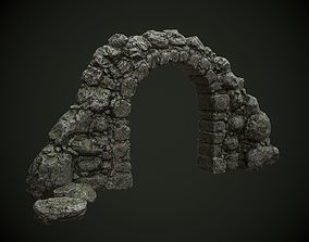 Mossy stone arch 3D asset realtime