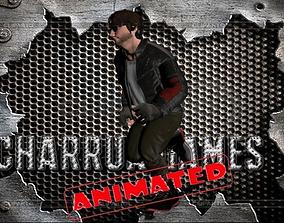 motero para juegos animado 3D asset