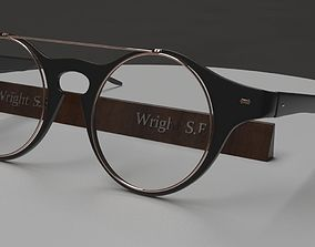 Glasses 3D asset game-ready