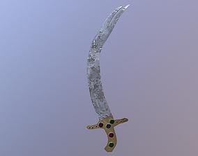 3D model Low Poly Zulfiqar Sword