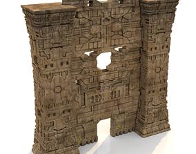 Aztec temple portal 3D