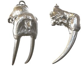 3D printable model Cranium Charm Walrus