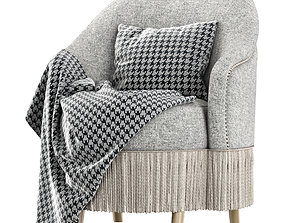 Amanda dining chair with plaid 3D model