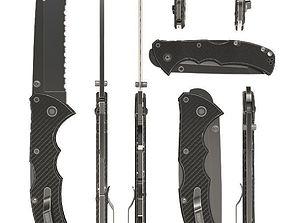 weaponry Combat knife 3D model