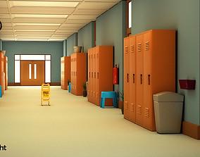 3D School Corridor