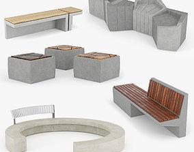 Urban Furniture Set 3D