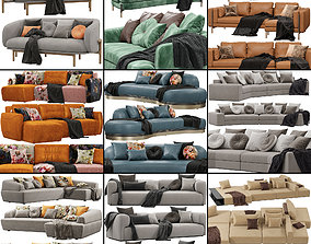Sofas set 6 3D