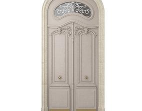 Entrance classic door 26 3D model