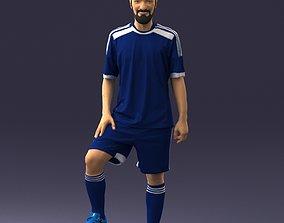 athlete Soccer player 0046 3D Print Ready
