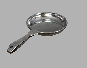 3D asset 30 inch stainless frying pan