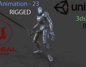armor Knight 3D model animated VR / AR ready