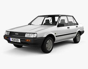 Toyota Corolla sedan 1983 3D model