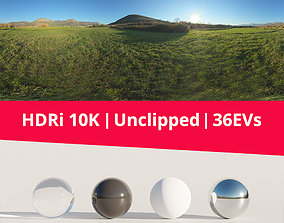 HDRi - Landscape Mountains and Grass 3D model