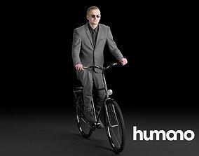 3D Humano Biking Woman 0716