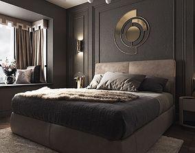 chair modern luxury bedroom 3D